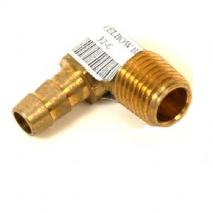 Hose Barb x Male Pipe Solid Brass Brass Fitting 1//4 Hose Barb x 3//8 NPT