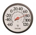 "13.5"" Dial Wall Thermometer"