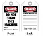 "Tag ""DO NOT START THIS MACHINE"""