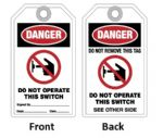 "Tag ""DO NOT OPERATE THIS SWITCH"""