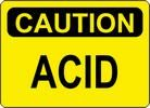 "Sign ""CAUTION ACID"""