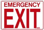 "Sign ""EMERGENCY EXIT"""